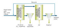 SULFATEQ - sulphate and metal removal by Paques - process scheme